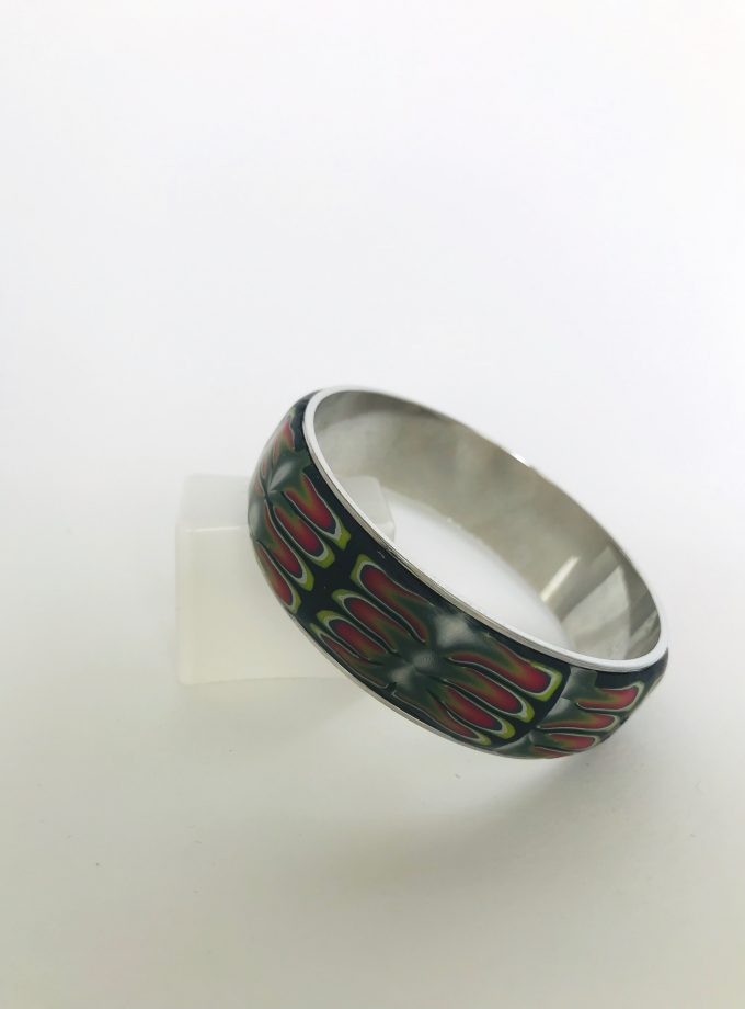 Multicolored Polymer Clay Bangle