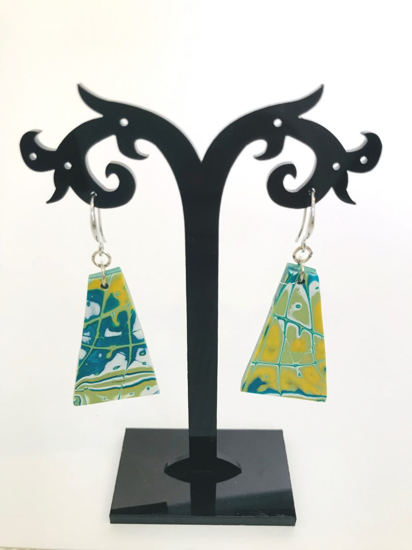 Multicolored Polymer Clay Earrings