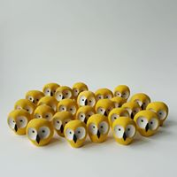 Dobos Ceramics Yellow Owl
