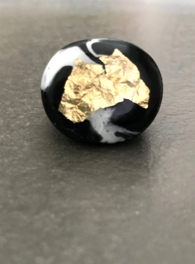 Black and White Resin Ring