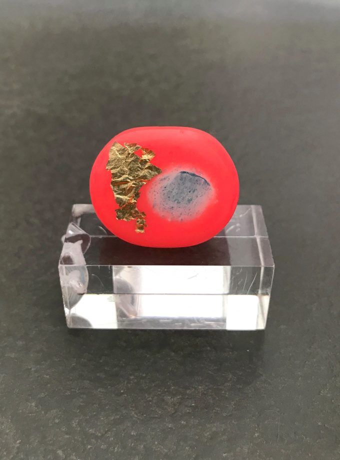 Coral Resin Ring