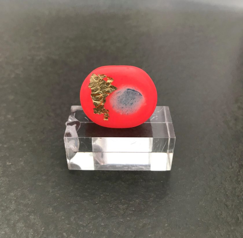 Coral Resin Ring
