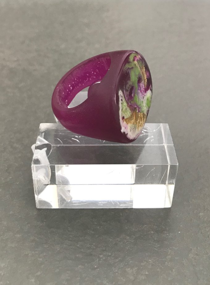 Purple Resin Ring