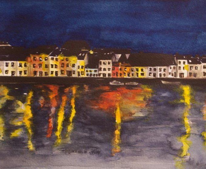 The Long Walk Night Lights Galway