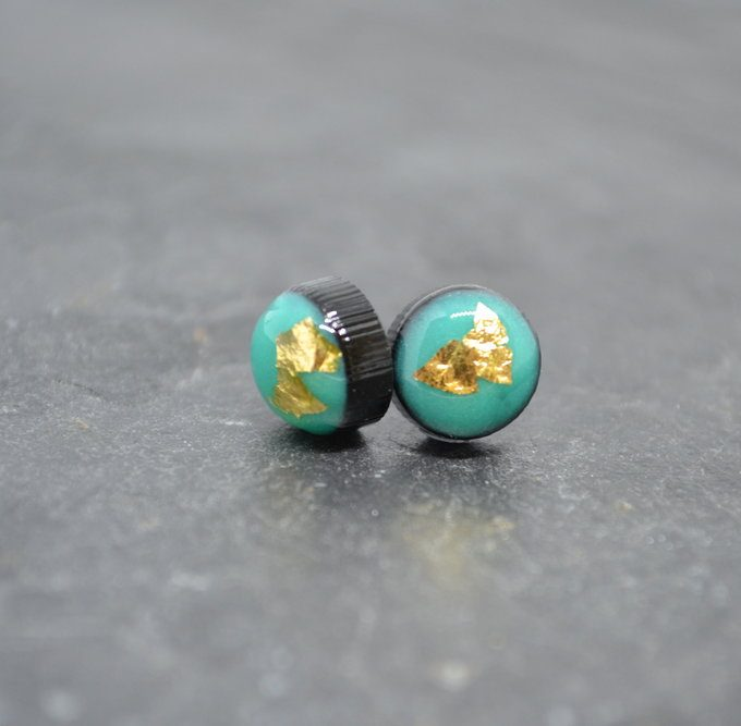 Aqua Resin Earrings