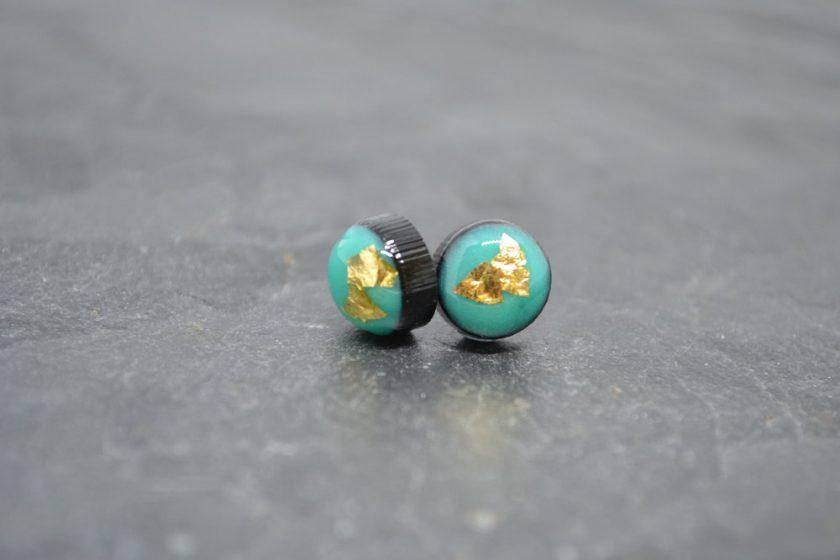 Aqua Resin Earrings