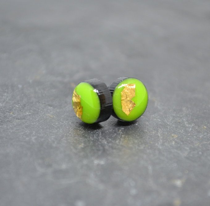 Green Coko Resin Earrings
