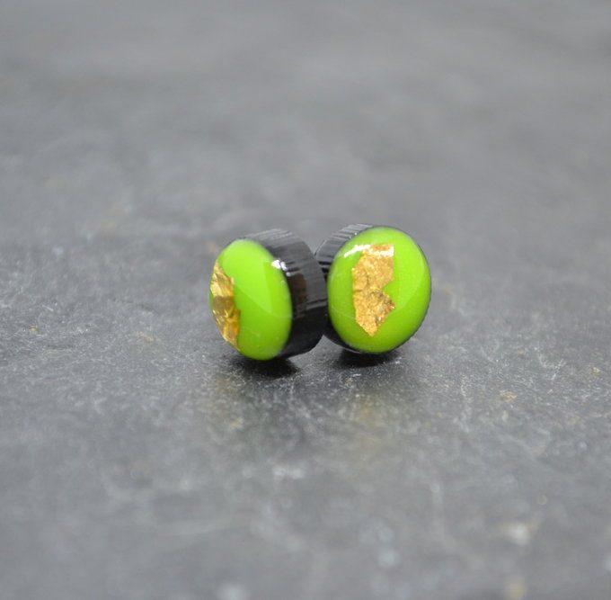 Green Coko Resin Earrings