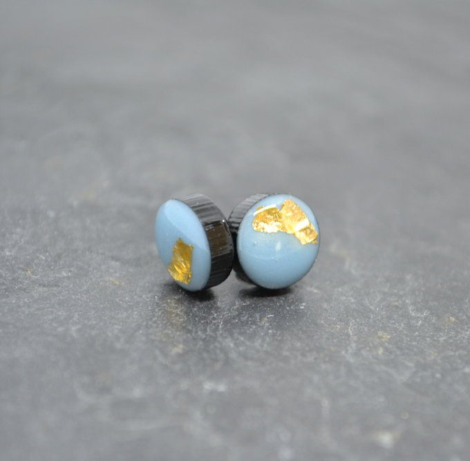 Light Blue Coko Resin Earrings