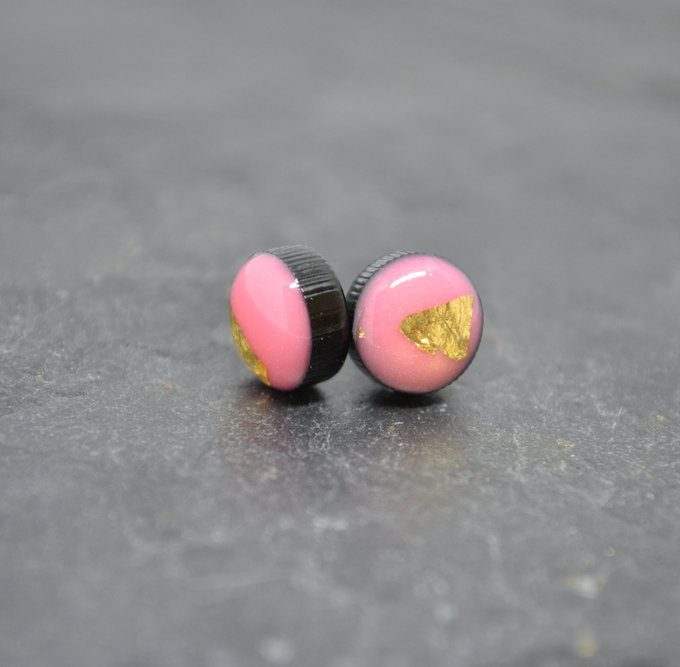 Pink Coko Resin Earrings