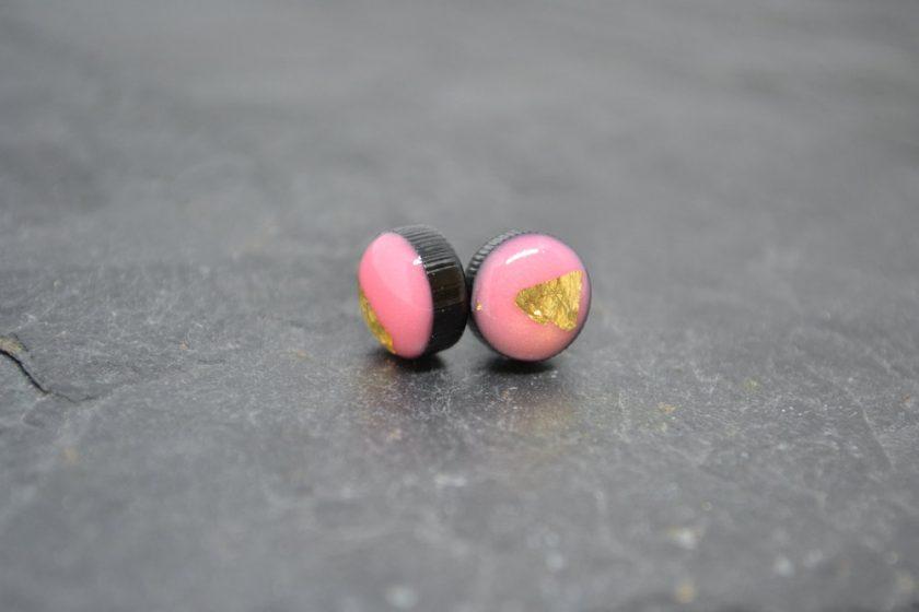 Pink Coko Resin Earrings