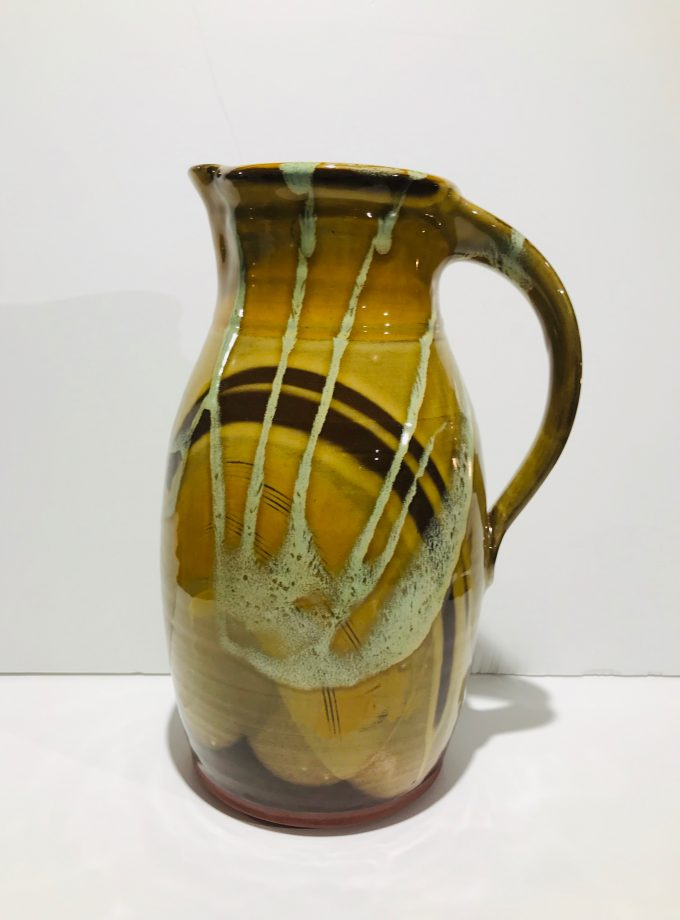 Tall Ginger Honey Glaze Pitcher