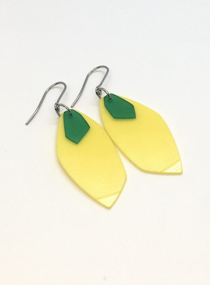 Iasc Designs Vinyl 'Lemons' Earrings
