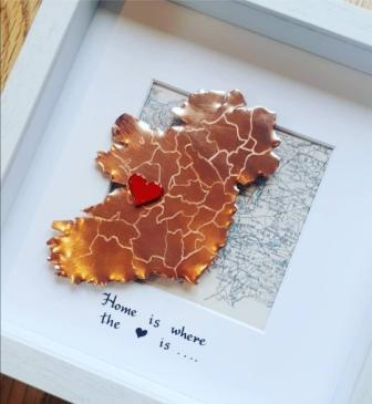 Framed Copper and enamel Ireland