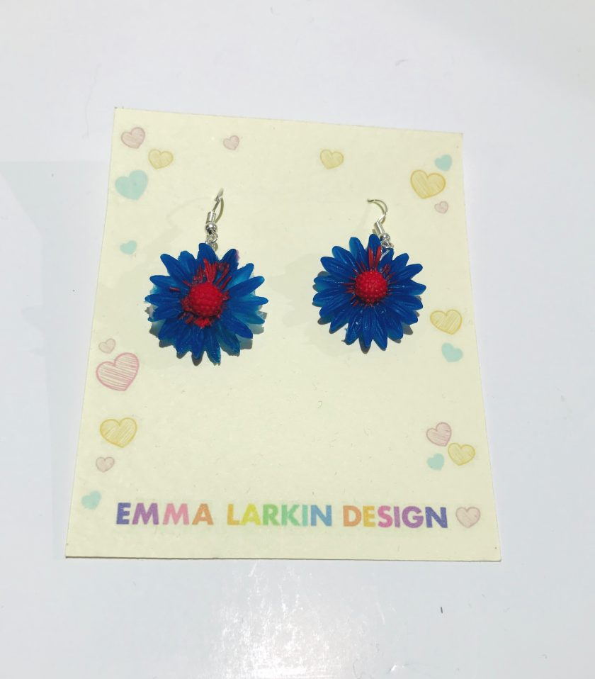 Small Blue Flower Silicone Earrings