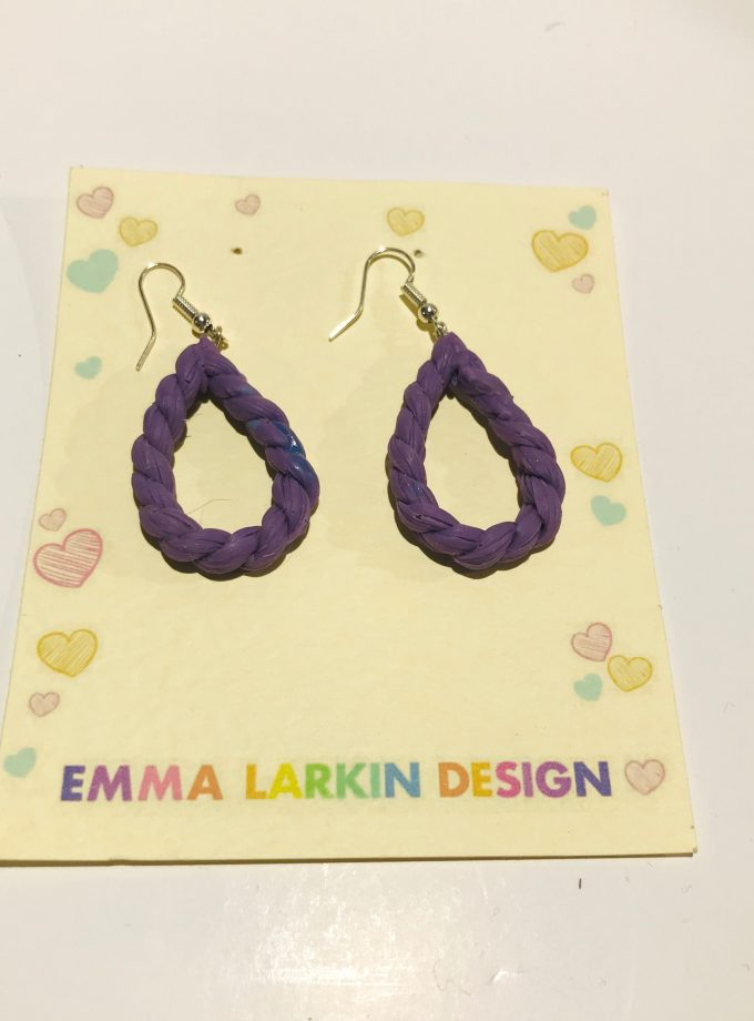 Small Purple Hoop Silicone Earrings
