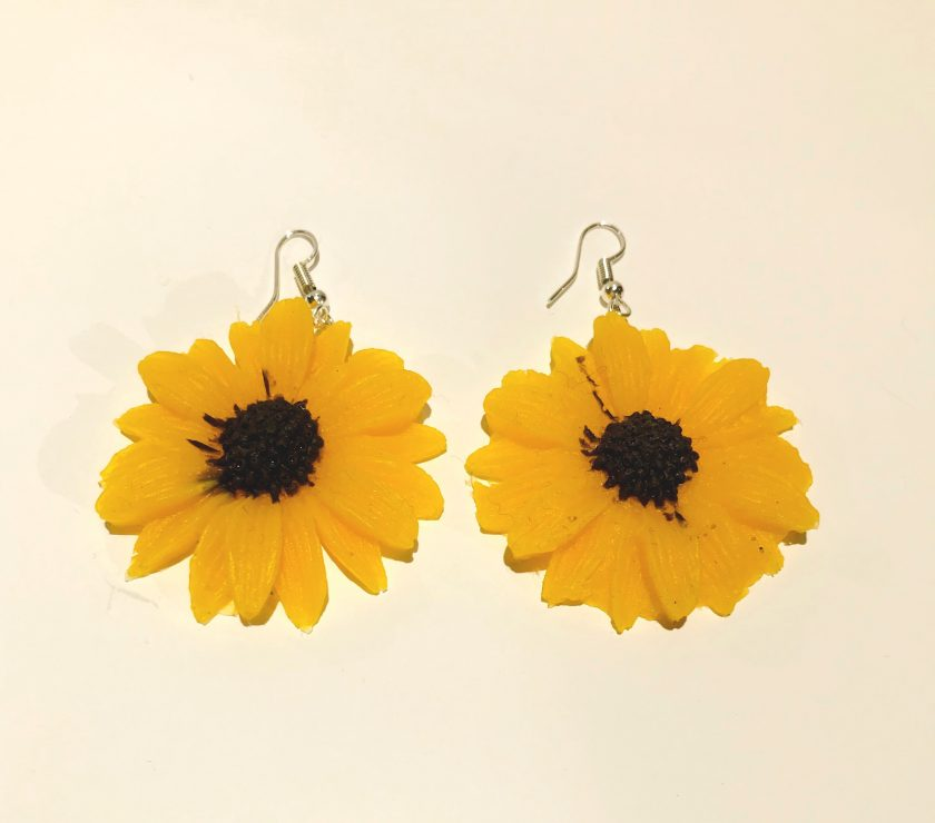 Yellow Flower Silicone Earrings