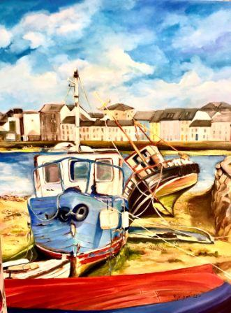 Original Art of The Claddagh, Galway