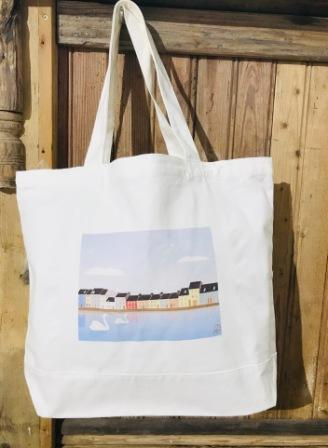 Large Large Canvas Tote Bag Long Walk ColourTote Bag Long Walk Colour