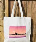 Small Canvas Tote Bag BlackRock Sunset